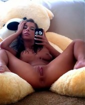 Daddys young girl sexy nude self shot pic with her playdoll