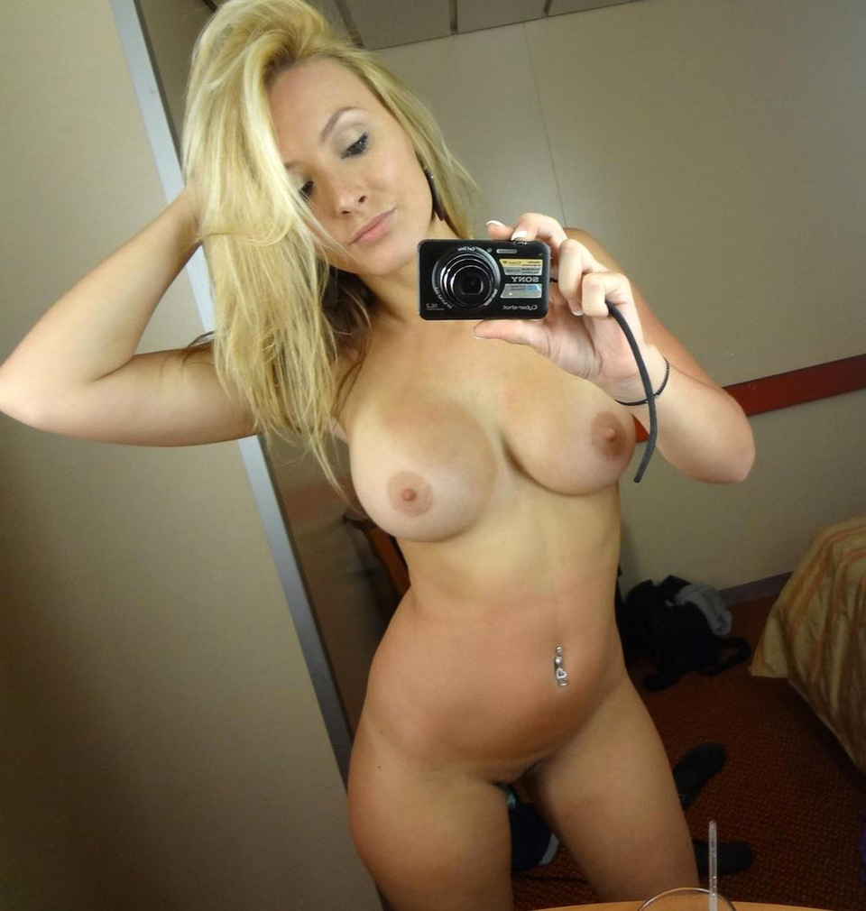 Topless black milf self shot